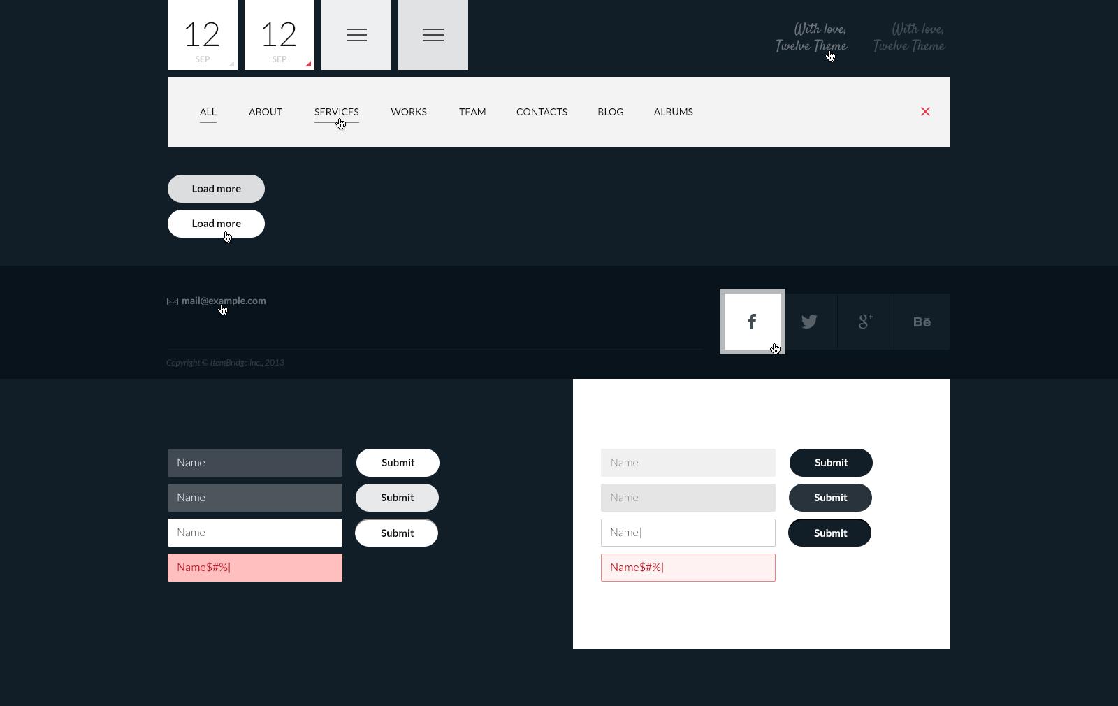 12 — Flat & Responsive PSD Template