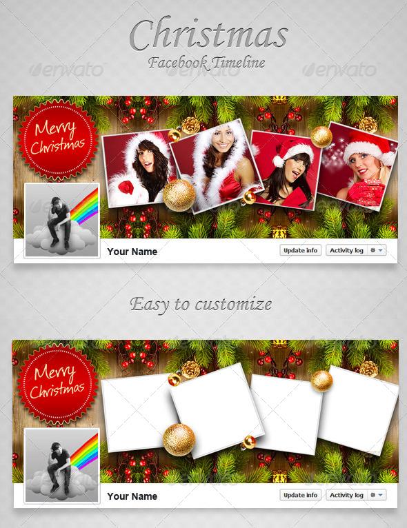 GraphicRiver Christmas FB Timeline V6 6395252