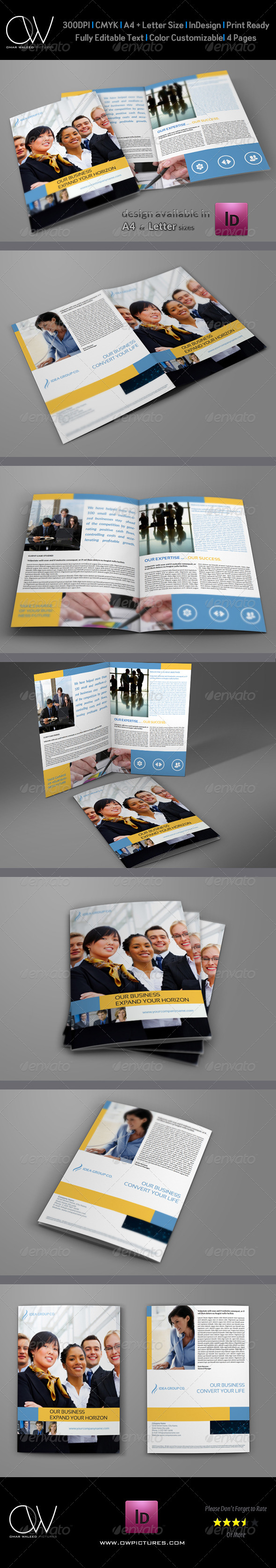 GraphicRiver Company Brochure Bi-Fold Template Vol.11 6395254