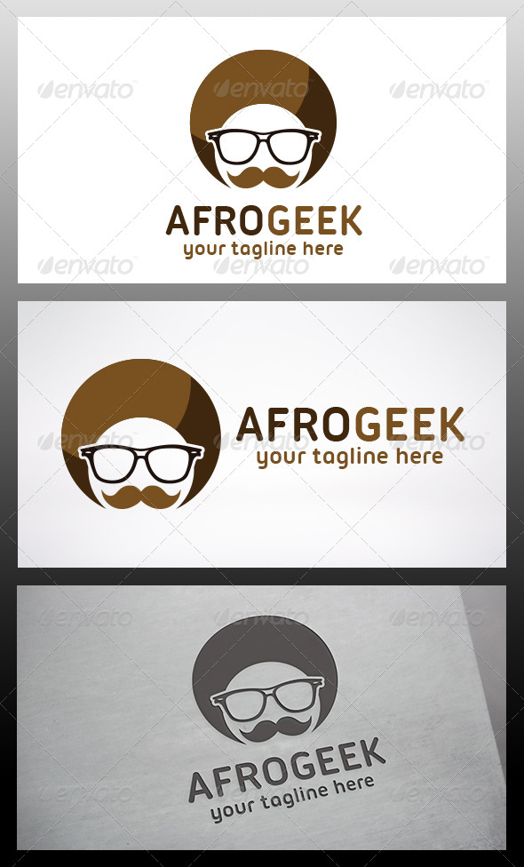 GraphicRiver Afro Geek Logo 6395304