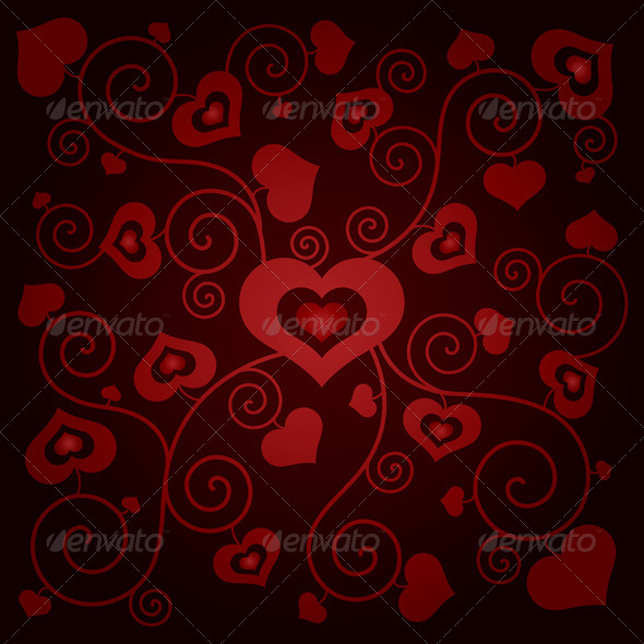 GraphicRiver Valentine s Day Background with Hearts 6395312