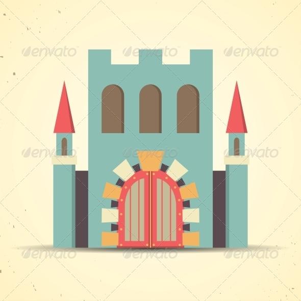GraphicRiver Color Flat Castle Icon 6395371