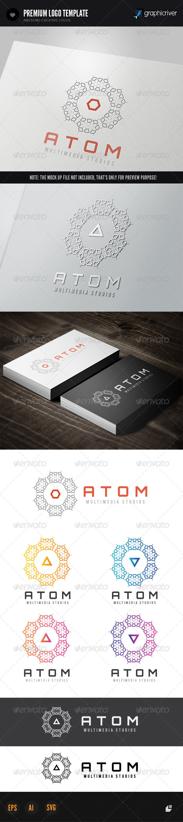 Atom Media - Objects Logo Templates