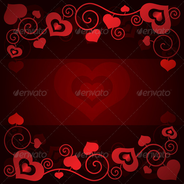 GraphicRiver Valentine s Day Background with Hearts 6395511