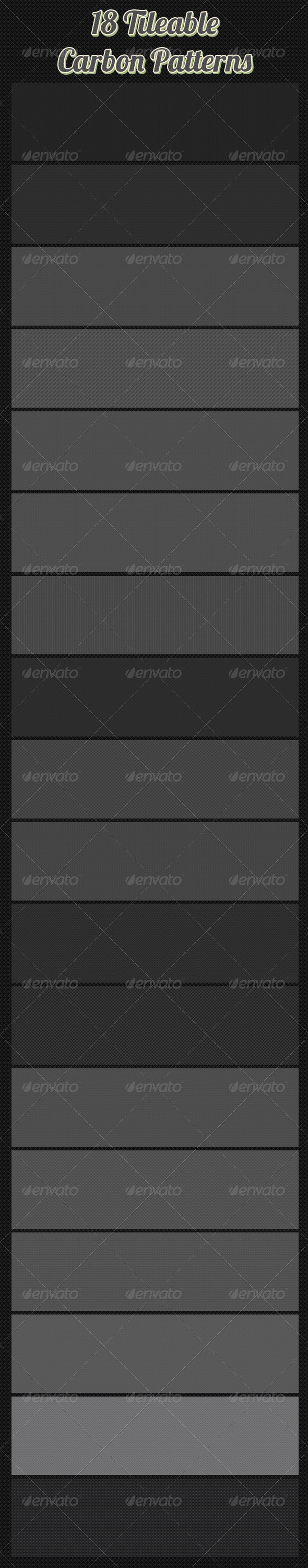 GraphicRiver 18 Tileable Carbon Patterns 6395588