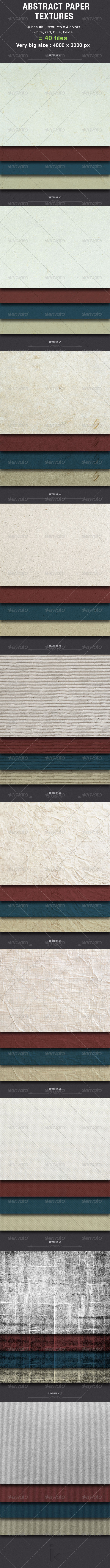GraphicRiver Abstract Paper Textures 6395590