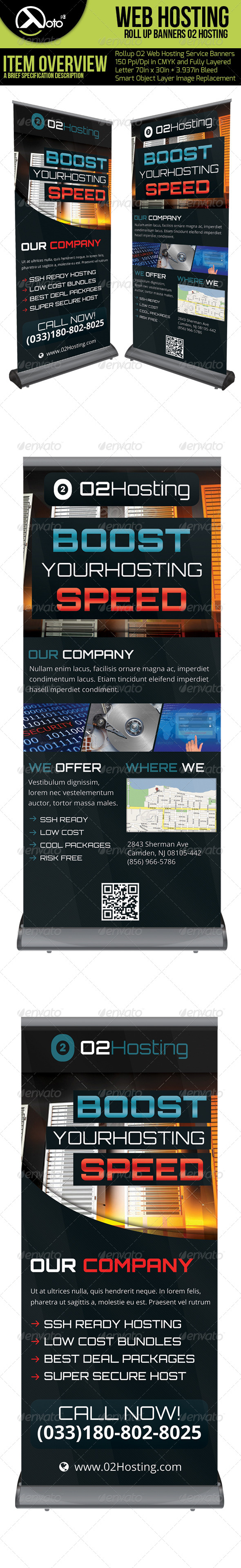 GraphicRiver O2 Web Hosting Roll Up Banners 6365716