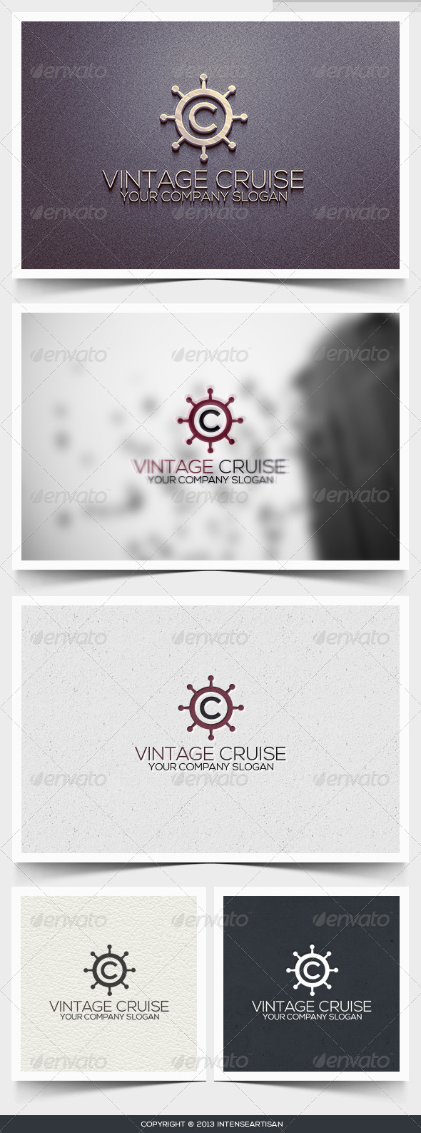 Vintage Cruise Logo Template - Letters Logo Templates