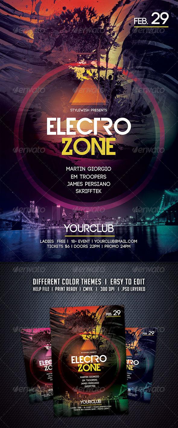 GraphicRiver Electro Zone Flyer 6395646
