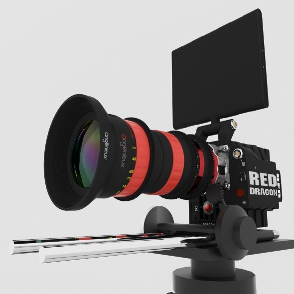 RED DRAGON 6K + Angenieux Optimo DP 30-80mm T2.8 - 3DOcean Item for Sale