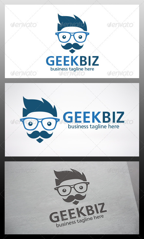 GraphicRiver Geek Logo 6395678