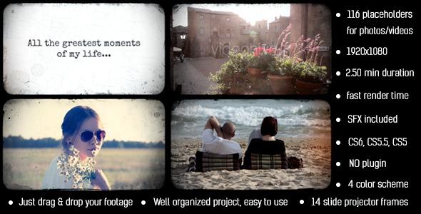 Photo Album Slide Projector