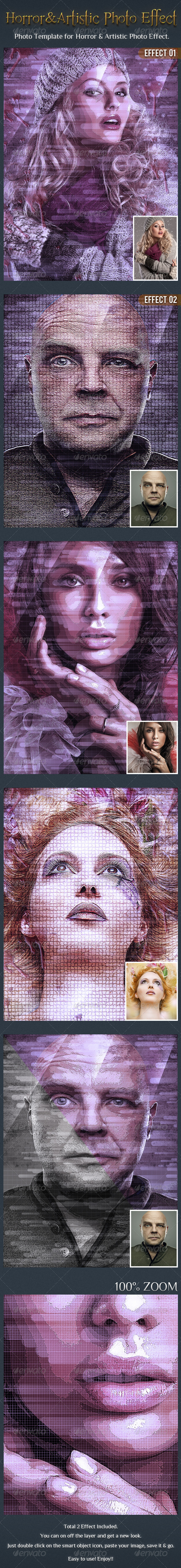 GraphicRiver Horror & Artistic Photo Effect Template 6381641