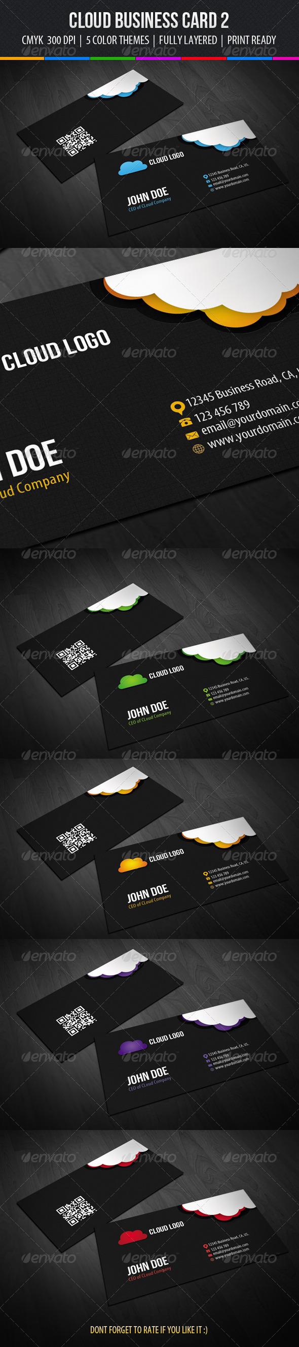 GraphicRiver Cloud Business Card Design 2 6345370