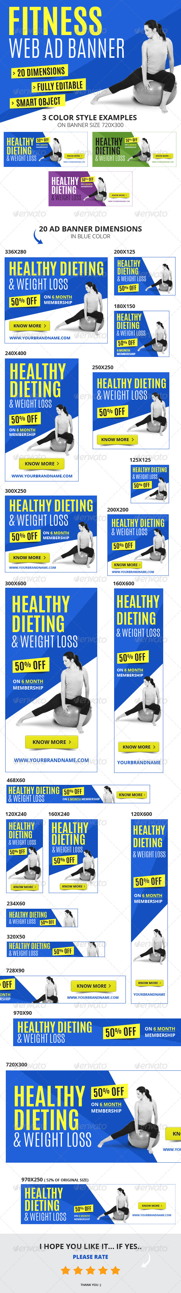 GraphicRiver Multipurpose Fitness Web Ad Banners 6396057