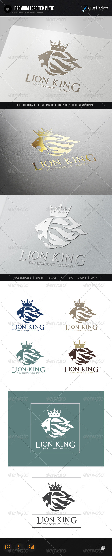 GraphicRiver Lion King Logo 1 6396445