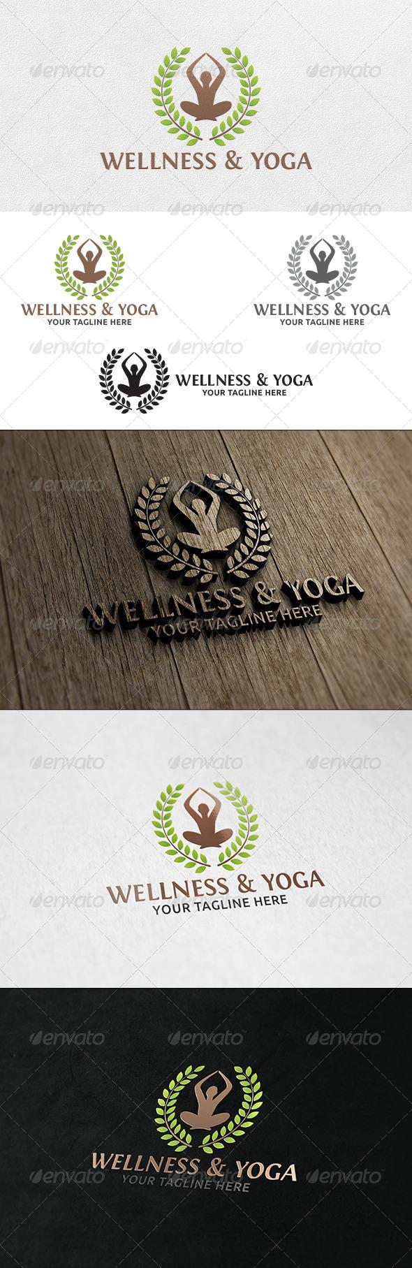 GraphicRiver Wellness & Yoga Logo Template 6396510