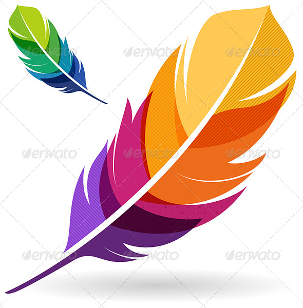 GraphicRiver Colorful Feathers 6396815