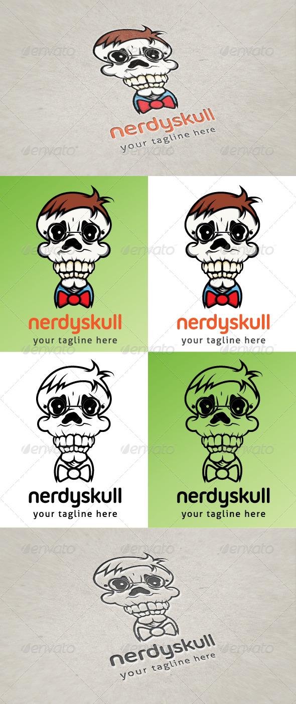 GraphicRiver Nerdy Skull 6396386
