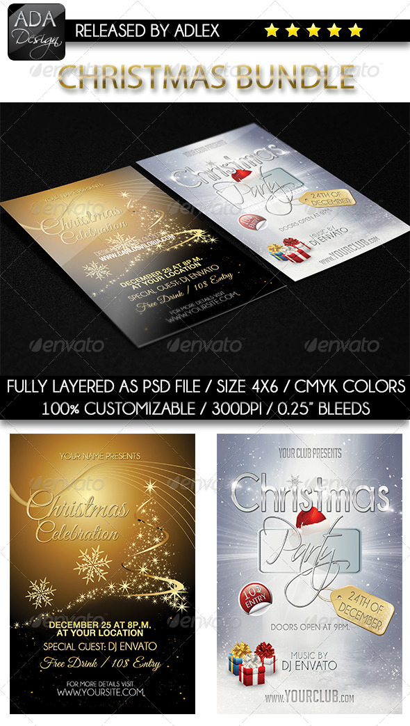 GraphicRiver Christmas Flyers Bundle 6368521