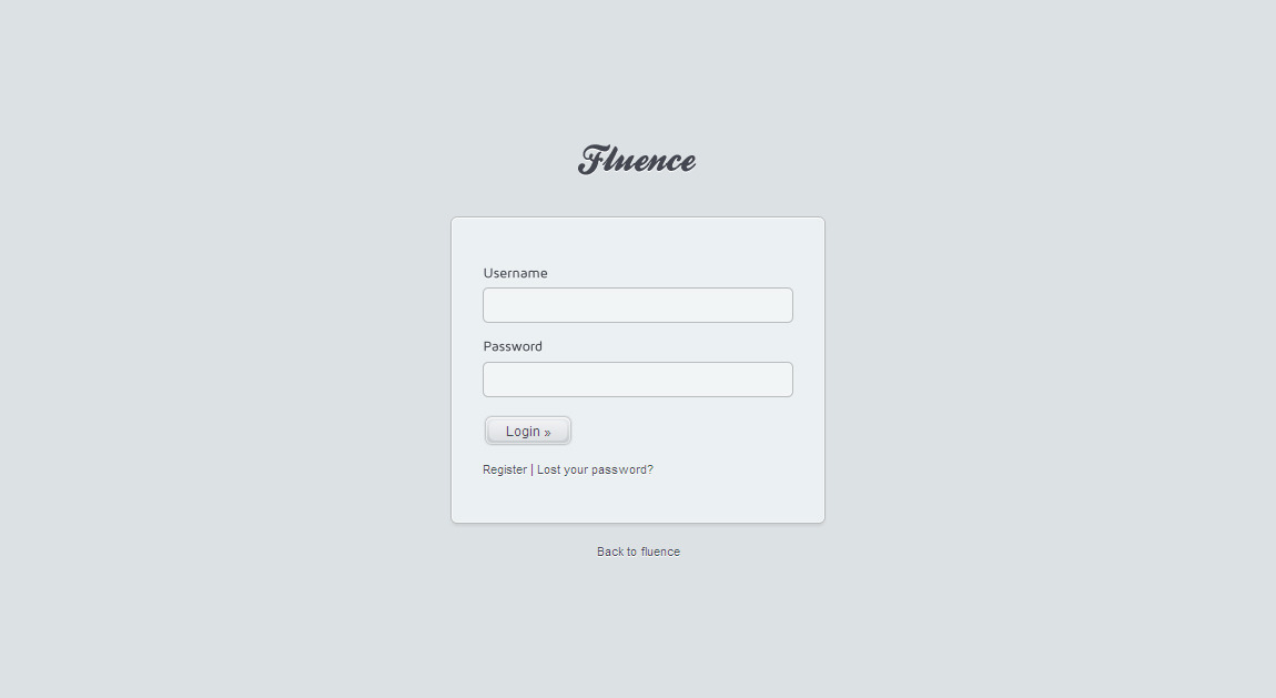 Fluence Landing Page