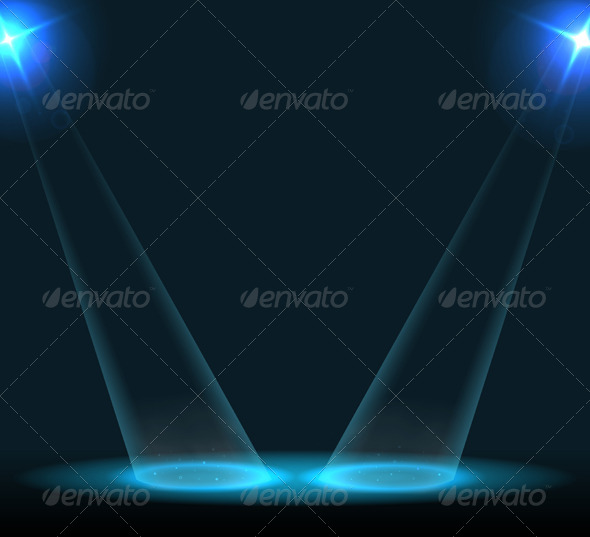 GraphicRiver Concert Lighting Against a Dark Background 6397193