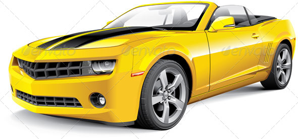GraphicRiver American Muscle Car Convertible 6397299