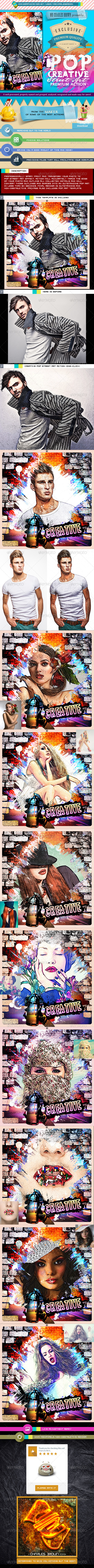 Creative Pop Street Art - Photo Effects Actions