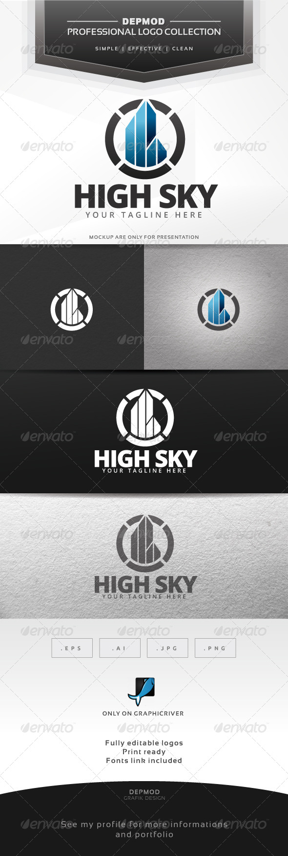 High Sky Logo - Buildings Logo Templates