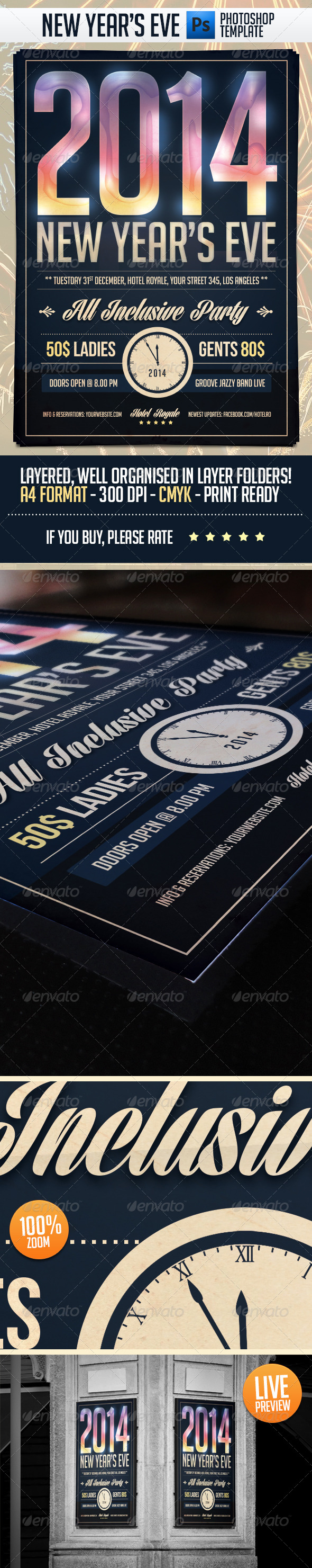GraphicRiver New Year Eve Party Flyer Template 6397666
