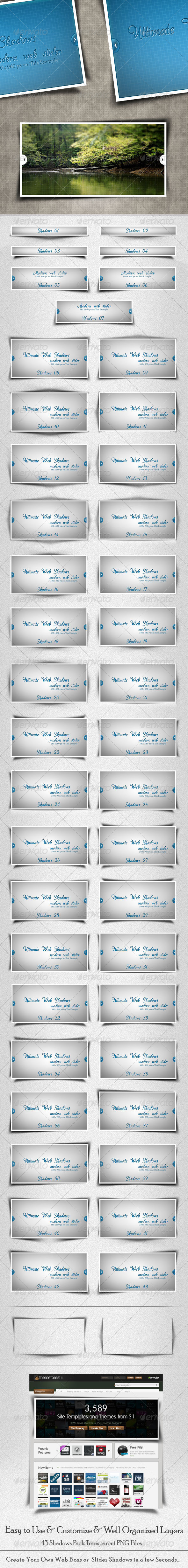 GraphicRiver 43 Ultimate Web Shadows 667144