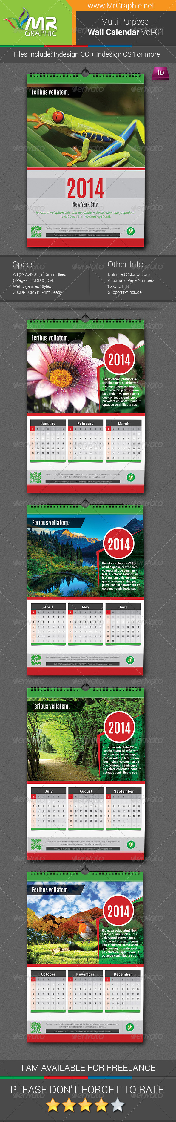 GraphicRiver Wall Calendar Vol-1 6364774