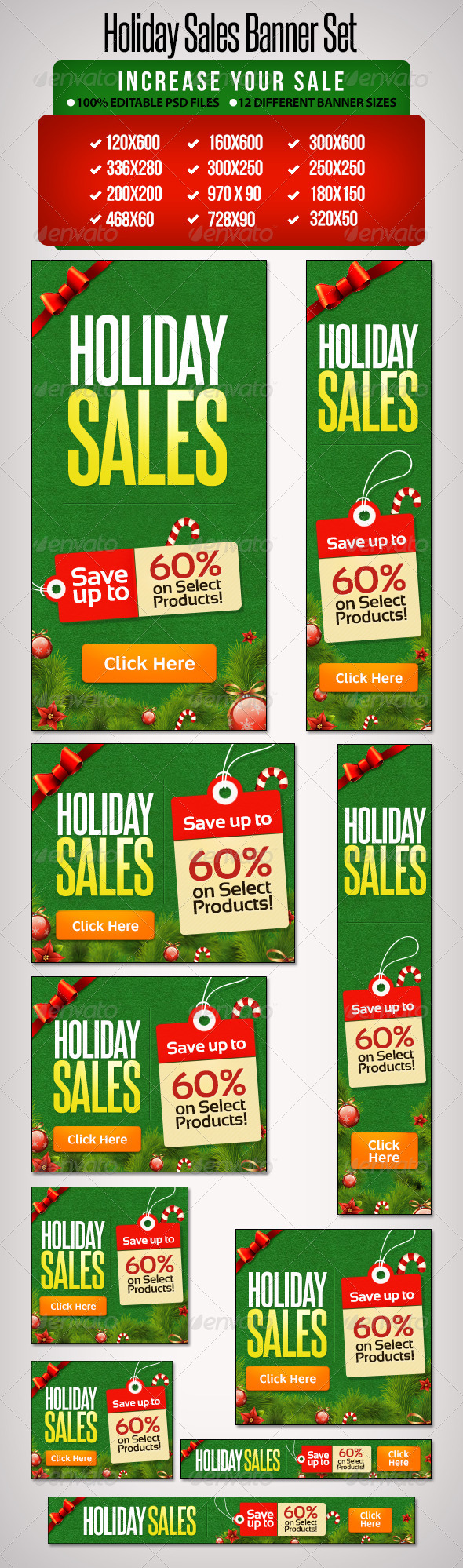 GraphicRiver Holiday Banner Set 7 12 Sizes 6397900