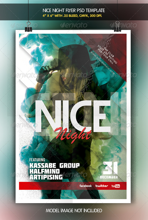GraphicRiver Nice Night Party Flyer 6333768