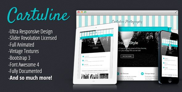 ThemeForest Cartuline Responsive Multi Purpose Template 6372813