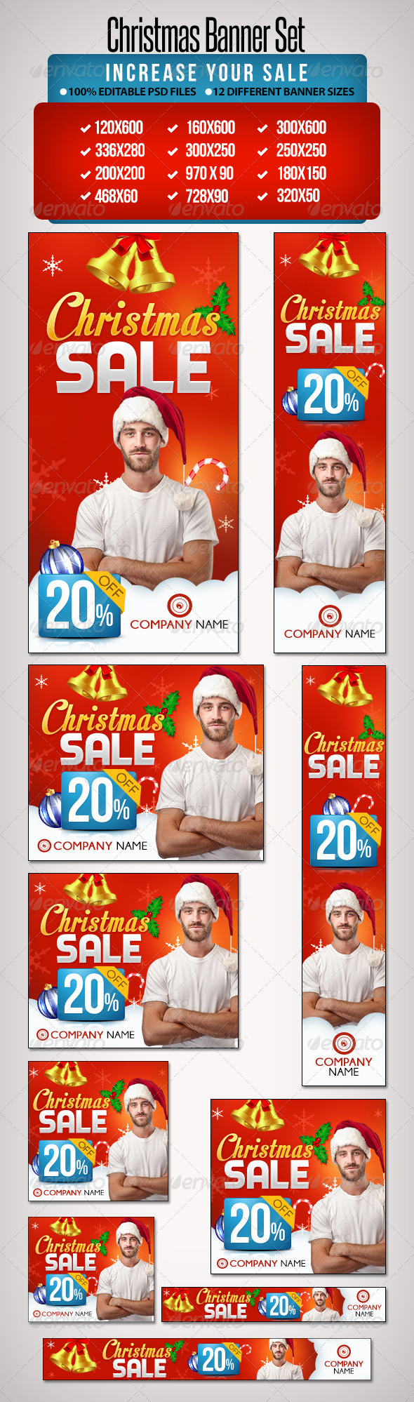 GraphicRiver Christmas Banner Set 4 12 Sizes 6398319