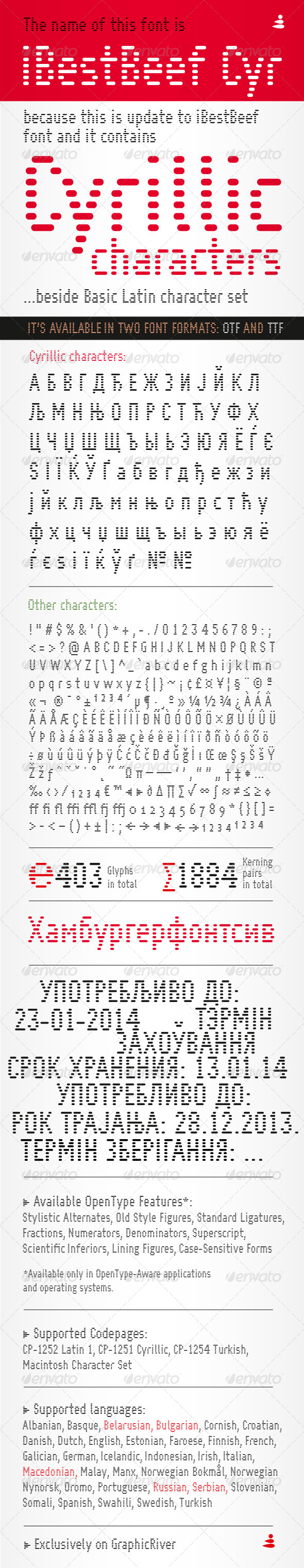 GraphicRiver iBestBeef Cyr font 6398354