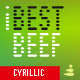 iBestBeef Cyr font - GraphicRiver Item for Sale