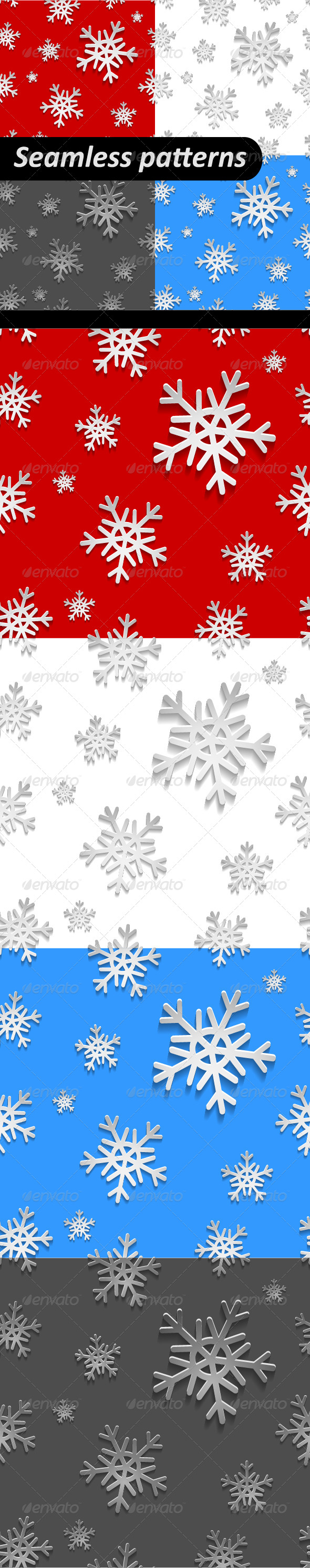 GraphicRiver Holiday Christmas Seamless Pattern Set 6398463