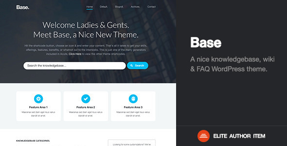 Base | Premium Knowledge Base / Wiki / FAQ Theme - Corporate WordPress