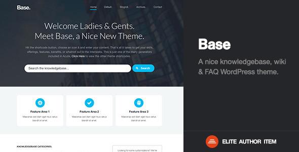 Base - Premium Knowledge Base / Wiki / FAQ Theme