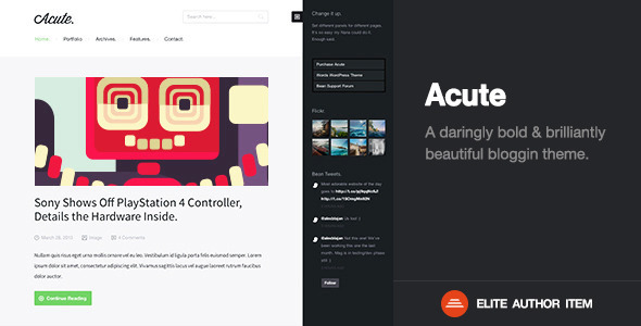 Acute - Beautiful & Responsive Blogging Theme - Blog / Magazine WordPress