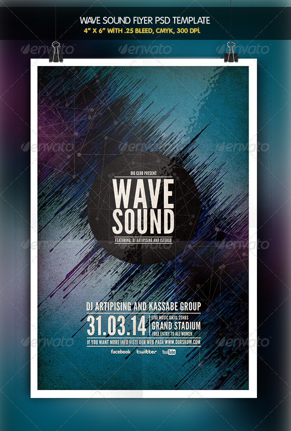 GraphicRiver Wave Sound Party 6346590