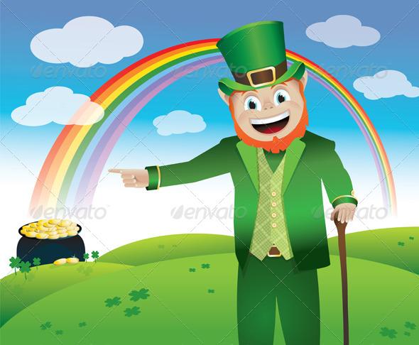 GraphicRiver Vector Saint Patrick s Day Leprechaun 6399336