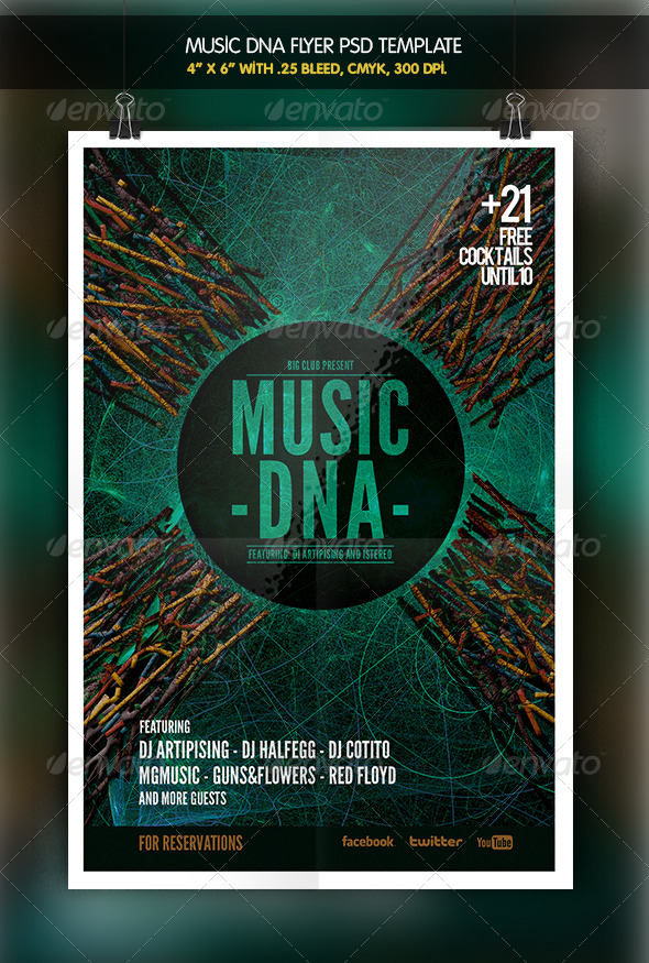 GraphicRiver Music DNA Flyer Template 6347847