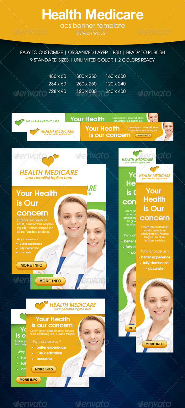 GraphicRiver Health Medicare Ads Banner 6386417