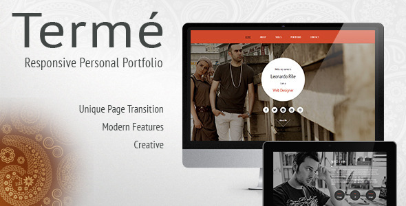 ThemeForest Terme Responsive Personal Portfolio Resume 6113856