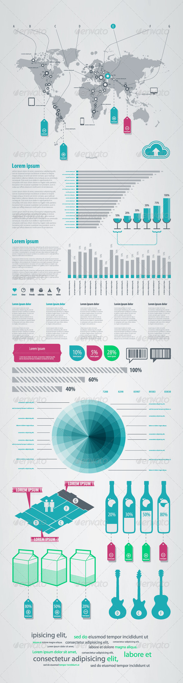GraphicRiver Bits and Pieces of Infographics on Sales 667335