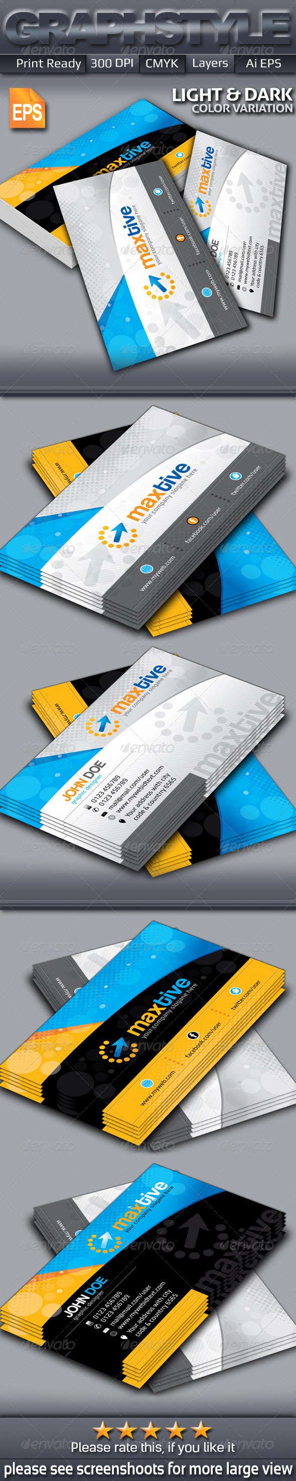 GraphicRiver Maxtive Creative Business Card 6400041