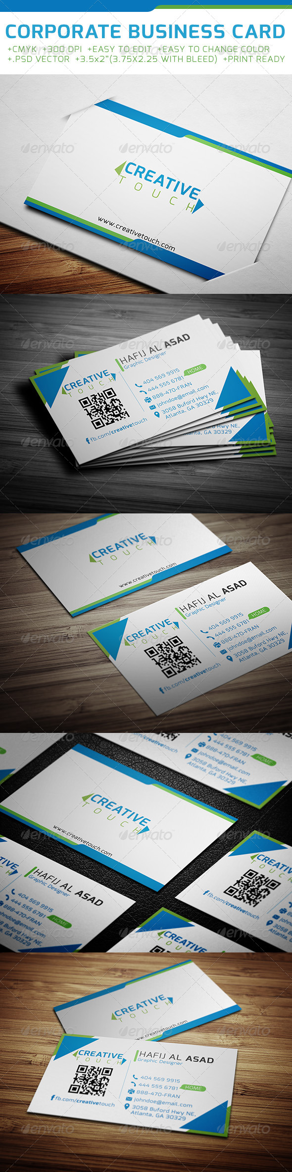GraphicRiver Corporate Business Card 6400073